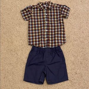 Toddler boys shorts outfit